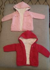 Baby girls set of 2 fur lined  cardigans 0-3M and 3-6M