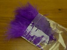 Strung Marabou Blood Quill - Purple - Fly Tying