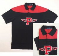 $145 NWT Men Polo Ralph Lauren Gothic P Wing Classic Fit Mesh Rugby Shirt LT 1XB