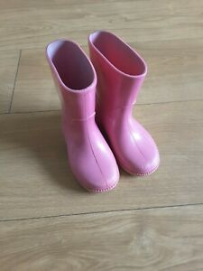 Clarks Pink Wellies / Wellington Boots - Size 5.5F