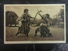 1934 Suva Fiji Picture postcard Cover Fijian Warriors To Ithaca Ny Usa
