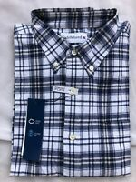 NWT Men Saddlebred® Long Sleeve Oxford Plaid Button Down Shirt Sz S/M/L/2XL