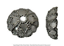 (20) Gunmetal Plated Plated 7mm Fancy Domed Bead Cap Jewelry Necklace