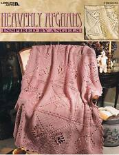 LEISURE ARTS ~HEAVENLY AFGHANS~ CROCHET BOOK (5 DESIGNS) 14 PAGES