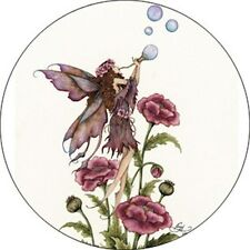Amy Brown Blowing Bubbles Faery Fairy Button Pin Badge