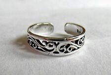 Sterling Silver (925) Adjustable  Intricate Scrolled   Toe Ring  !!       New !!