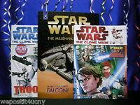 Star Wars Activity Books 2 Coloring Sticker Books 1 Millennium Falcon 3-D Book