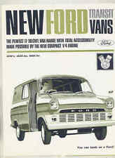 1966 1967 Ford 17-30cwt Transit Van V4 Truck Brochure Australia 9/66 wt9265