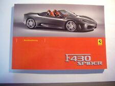 Manual de instrucciones de ferrari f 430 Spider/f1 original alemán nuevo rar 4/2008