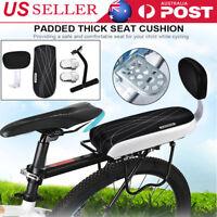 Bicycle Rear Seat Cushion Armrest Footrest Set Sanmersen Bike Back Seat US
