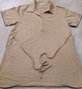 NEVER been worn Maternity Blouse (stretchy brown blouse) L Size