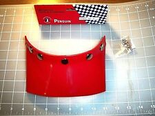 HELMET VISOR RED FIVE SNAP NOS VINTAGE RACING APPAREL ACCESSORY FREE SHIPPING