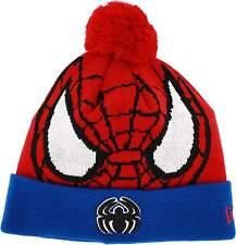 Spiderman Marvel Comics Woven Character Biggie New Era Knit Hat Cap Beanie OSFA