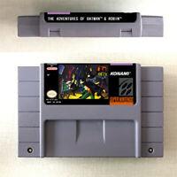 New The Adventures of Batman & Robin Game US Version For Nintendo SNES 16 Bit En