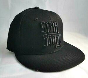 SLIM SHADY BB CAP BLACK & COLOUR LOGO PEAK BASEBALL HAT OFFICIAL EMINEM