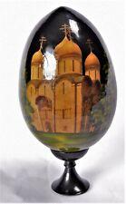 Russland, EI Russisch MALEREI Kirche Religion handarbei, Holz SIGNIERT A.Barid