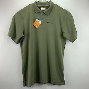 Columbia Mens Big & Tall Utilizer Omni-Wick Short Sleeve Polo Shirt Green LT