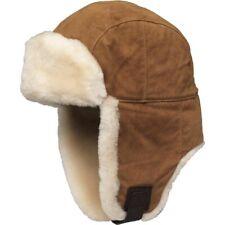 $195 UGG Men's S/M Fur Lined Trapper Warm Winter Hat Chestnut Brown Suede 17412