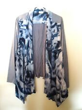 NIP - Logo by Lori Goldstein - 3X - Printed Jacket W/ Faux Suede Sleeve - Blue