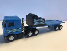 Vintage BUDDY L Goodyear Racing Tires Transport Mack Truck & Trailer