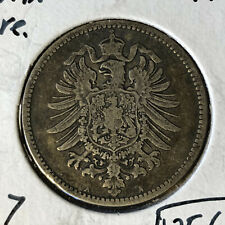 1882-A Germany 1 Mark Silver Coin VF/XF Condition