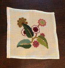 Floral Needlepoint Hand Embroidered Canvas size 12 x 12�