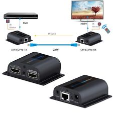 196ft/60m LKV372 PRO HDMI Network Extender Over Cat6 Single Cable with Loop-out