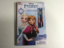 16 PACK PENCILS Disney Frozen Anna & Elsa  (Nice COLLAGE USE) Valentines