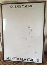 Alberto Giacometti Galerie Maeght 1957 Paris Art Poster Framed Print Walking Man