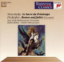"New! ""STRAVINSKY Le Sacre/ PROKOFIEV Romeo & Juliet [Excerpts]"" (CD 1992) SEALED"
