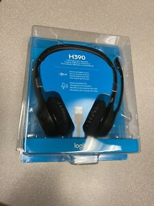 Logitech H390 USB Black Headband Headset Teams Zoom Webex Noise Canceling