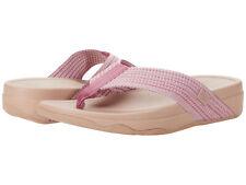 Women FitFlop Surfa Fabric Sandal H84-800 Soft Pink 100% Original Brand New
