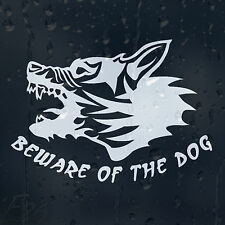 BeWare Of The Angry Dog On Board Car Or House Decal Vinyl Sticker For Window