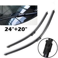 24''& 20'' Windshield Wiper Blades Front For Audi Q3 Q5 S5 A5 Porsche Macan 95B