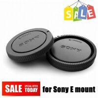 Rear Lens Cap + Camera Front Body Cover for Sony E-Mount NEX Camera