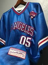 VTG 90 FUBU Athletics Sports Collection Los Angeles L Blue Baseball Jersey 1992