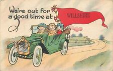 """""""Out for a Good Time"""" at Willshire Ohio~Vintage Touring Car~1917 Pennant PC"""
