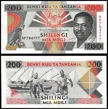 TANZANIA 200 SHILINGI (P25b) N. D. (1993) UNC