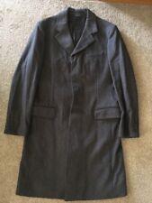 Mens Metropolitan View Virgin Wool Gray Trench Coat, Size 42R