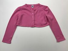 JANIE AND JACK Roman Holiday Pink Cropped Cardigan Sweater Size 5 5T