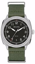Bulova Men's 96B229 Military Collection UHF Quartz Green Strap 42mm Watch