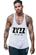 Hot Zyzz gym tank men singlet muscle stringer top shirt bodybuilding tops vest