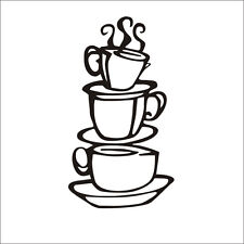 Newly Modern Coffee House Cup Decals Wall Sticker Kitchen Dining Room Wall Decor