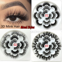 Wispy Fluffy Eye Lash Extension False Eyelashes 3D Mink Hair Thick Cross