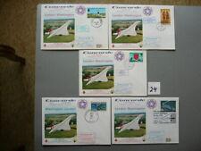 5 Belege CONCORDE Flüge 1976