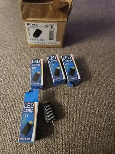 4 Kichler (18043) Energy Efficient 2W 12V 3000K 300-DegreeG4/T3 Bi-Pin LED Bulb