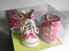 Adora 18' Friends Pink/White Polka Dot High Top Shoes  ***