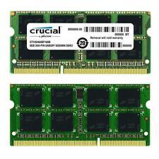 16GB (2x8GB) PC3L-12800 SoDimm 1600MHz 204pin Crucial Memory CT2KIT102464BF160B