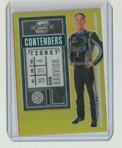 KEVIN HARVICK 2021 CHRONICLES RACING GOLD PRIZM CONTENDERS OPTIC CARD # 10/10🔥