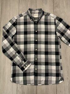 PREMIUM by JACK & JONES Mens Slim Fit Check Long Sleeve Shirt   Large L